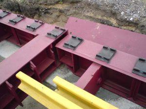 Установка конструкций вагонных весов